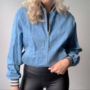 LEVI'S | Vintage Levi's 1960's Bomber Denim Zip Up Jacket